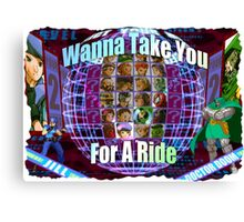 Marvel vs Capcom 2: Wanna Take You For a Ride! Canvas Print