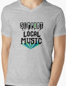 Support Local Music Mens V-Neck T-Shirt