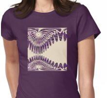 Curvy, Creamy and Purple Womens Fitted T-Shirt
