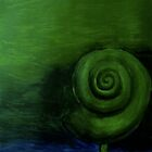 Green Shell painting (Original Sold) by Donnahuntriss