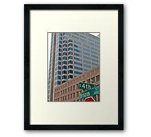 High Rise Reflection 4 - Downtown - Austin Texas Series - 2011 Framed Print