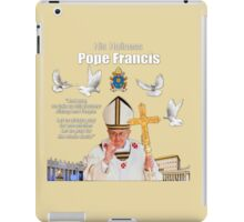 His Holiness Pope Francis 2015-prayer card with doves version 5 iPad Case/Skin