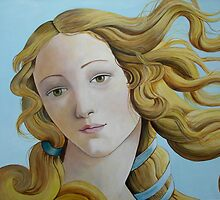 Portrait Birth of Venus by SitaDevi