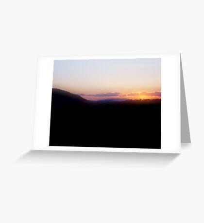 Benjamin's Sunset Greeting Card