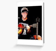 Cliff Guest on acoustic guitar Greeting Card