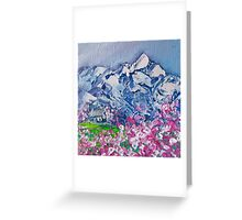 Mountain Blossoms Greeting Card