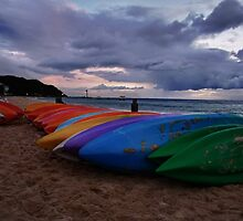 Kayaks at Tangalooma 3 by DavidTheDave