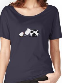 Chicken and Cow Egg Women's Relaxed Fit T-Shirt