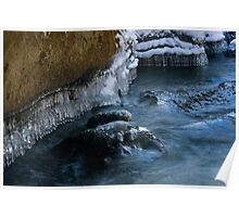 Ice Sculptures on Slippery Rock Creek Poster