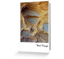 Cliff detail - Point Franklin - Card Greeting Card
