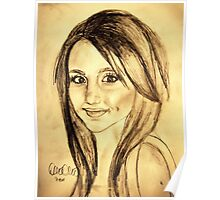 Ariana Grande Gold Paper Draw Poster
