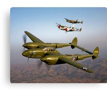 Formation of P-38 Lightnings Canvas Print