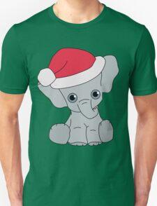 Christmas Elephant Unisex T-Shirt