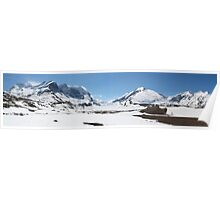 Panoramic glacier Poster
