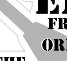 Uke 'Em From Orbit (black text) Sticker