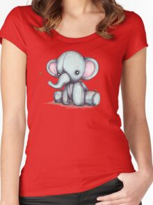 Elephant and Bee Plushie Women's Fitted Scoop T-Shirt