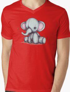 Elephant and Bee Plushie Mens V-Neck T-Shirt