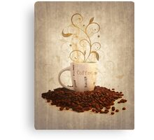 Grunge cup off coffee Canvas Print