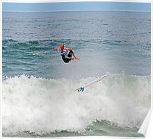 Kelly Slater gets some air at Bells Poster