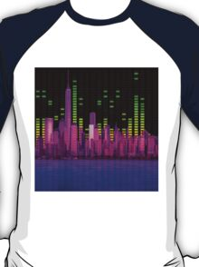DJ NYC NY Skyline Sound Bar Meter Music Engineering T-Shirt