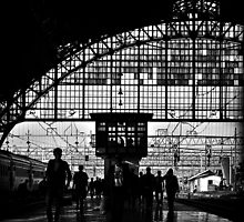 Passengers at Railway Station by RONI PHOTOGRAPHY