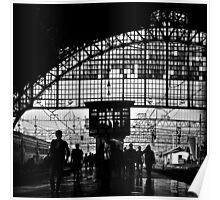 Passengers at Railway Station Poster