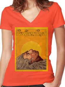 Fowlerfest 2011 Women's Fitted V-Neck T-Shirt