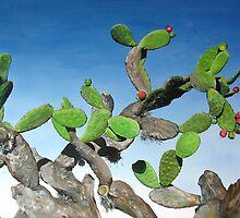 Nopal Tree - oil painting of cactus growing in Mexico by James  Knowles