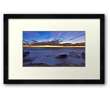Glutinous  Rocks - Little Bay Framed Print