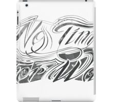 No Time For War Grunge Black iPad Case/Skin