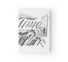 No Time For War Grunge Black Hardcover Journal