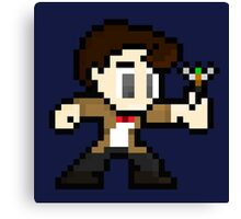 8-Bit 11th Doctor Canvas Print