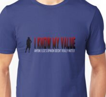 I KNOW MY VALUE - Red Unisex T-Shirt