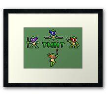 TMNT 8-Bit Framed Print