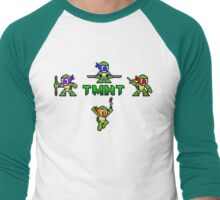 TMNT 8-Bit Men's Baseball ¾ T-Shirt
