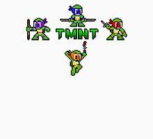 TMNT 8-Bit Men's Baseball ¾ T-Shirt