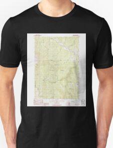 USGS Topo Map Oregon Bates 278951 1988 24000 T-Shirt