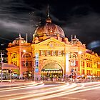 Flinders Street Station by Steven  Sandner
