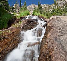 Emerald Lake Trail Waterfall by Phil Millar