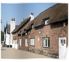 Quaint cottages in Frodsham Poster