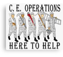 Military Poster-CE Operations Canvas Print