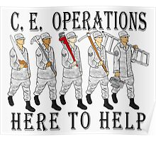 Military Poster-CE Operations Poster