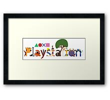 Character Caracters Framed Print