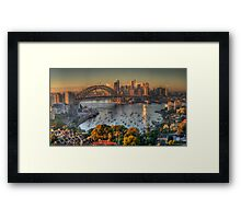 Then There Was LIght #2 - Sydney Harbour Sydney Australia - The HDR Experience Framed Print