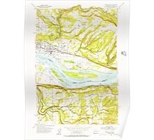 USGS Topo Map Washington Washougal 244542 1954 24000 Poster