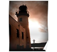 Scarborough Harbour Lighthouse Poster