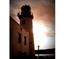 Scarborough Harbour Lighthouse Photographic Print