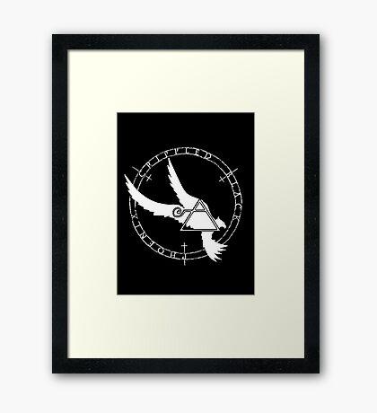 Crippled Black Phoenix 2015 A.D. (White V.2) Framed Print
