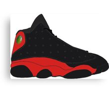 "Air Jordan XIII (13) ""Bred"" Canvas Print"