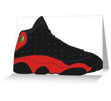 "Air Jordan XIII (13) ""Bred"" Greeting Card"